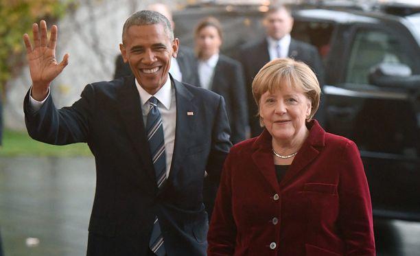 Jäähyväisvierailulla Euroopassa oleva Yhdysvaltain presidentti Barack Obama keskustelee tänään Berliinissä liittokansleri Angela Merkelin kanssa.