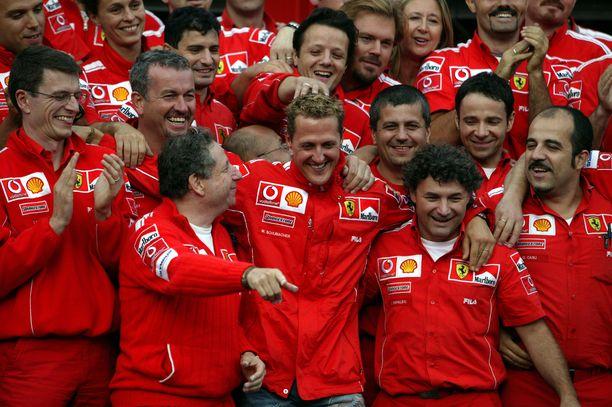 Tallin sisällä Michael Schumacher oli erittäin pidetty mies.