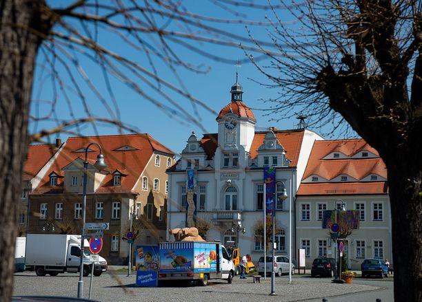 Uusnatsien festivaali järjestetään tässä Ostritzin rajakaupungissa.