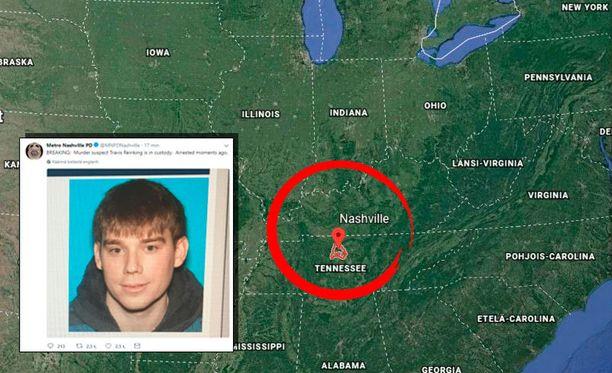 Nashvillen epäilty ampuja on saatu kiinni.