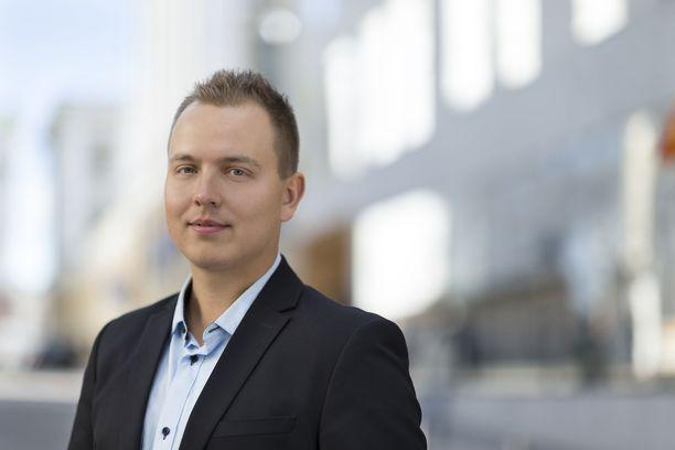 Nordnetin osakestrategi Jukka Oksaharju. Arkistokuva vuodelta 2018.