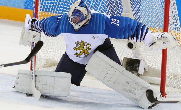 Mikko Koskinen loukkasi lonkankoukistajansa olympialaisten Norja-ottelussa.