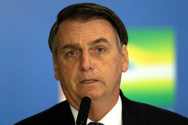 Äärioikeistolainen Jair Bolsonaro nousi Brasiliassa valtaan viime vuonna.