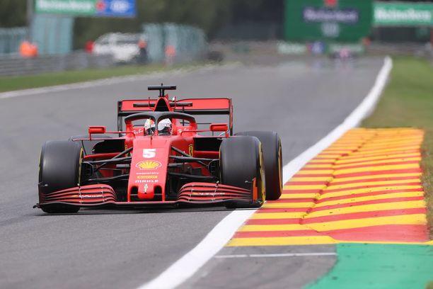 Sebastian Vettelin vauhti oli surkeaa.