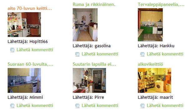 Muun muassa nämä keittiöt kilpailevat vuoden rumimman tittelistä.
