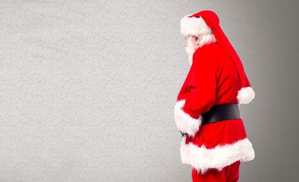 Joulupukki tapasi pojan sairaalassa. Kuvituskuva.