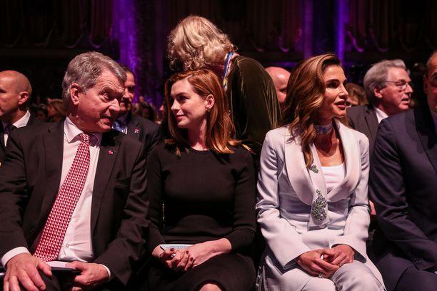 Niinistö ja Hathaway viihtyivät yhdessä.