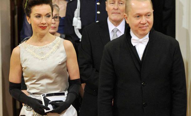 Lisa Sounio ja Marko Ahtisaari Linnan juhlissa vuonna 2010.