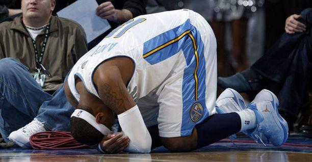 Carmelo Anthonyn loukkaantuminen on iso kolaus Denverille.