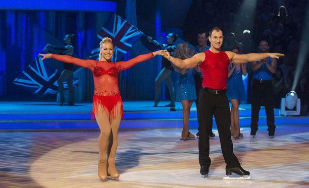 Emms esiintyi brittien Dancing On Ice -ohjelmassa Lukasz Rozyckin parina vuonna 2012.