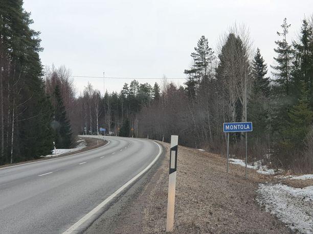 Onnettomuus tapahtui Pieksämäen Montolassa.