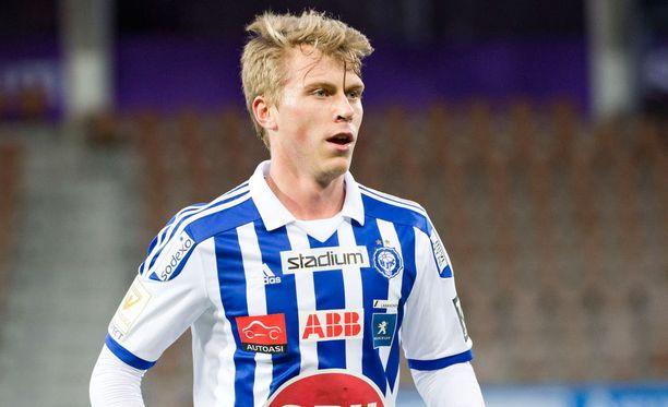 HJK:n keskikenttämies Rasmus Schüller oli avausjakson hahmoja.