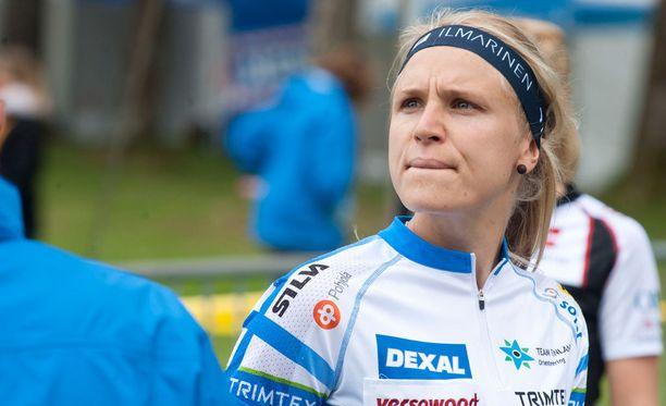 Minna Kauppi pettyi suoritukseensa.