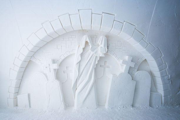 Kemiin rakennetaan täksi talveksi luminen Kummituslinna.