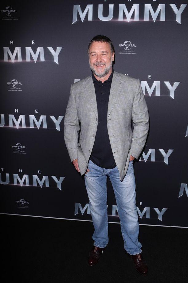 Russell Crowe vuonna 2017 The Mummy -elokuvan Australian ensi-illassa.