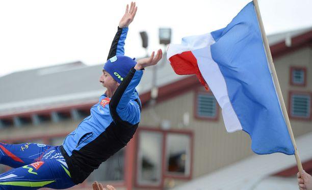 Maurice Manificat juhli maailmancupin kokonaiskisan kakkossijaa viime keväänä.