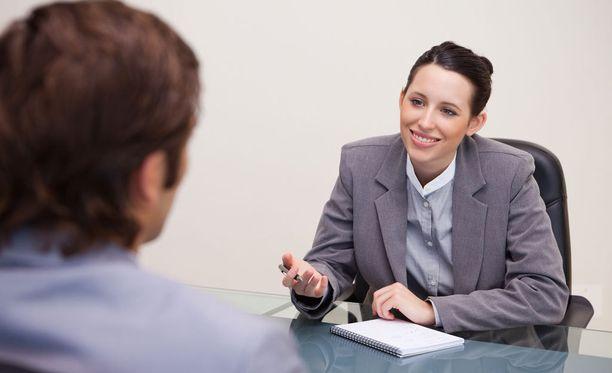 Työhaastattelussa kannattaa olla tarkkana.