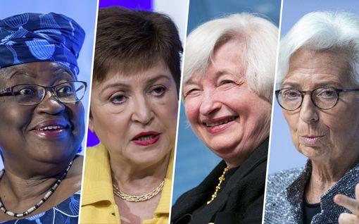 Historiallinen tilanne: maailmantaloutta johtavat nyt naiset – vaikuttaako se mihinkään?