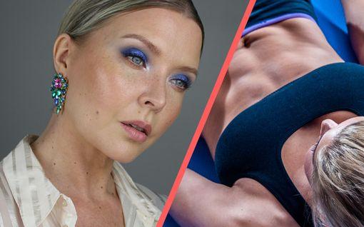 """Karu totuus paljastui, kun kauneusbloggaaja Miia Johansson, 37, yritti tehdä vatsarutistuksen: """"Olen laiha läski"""""""