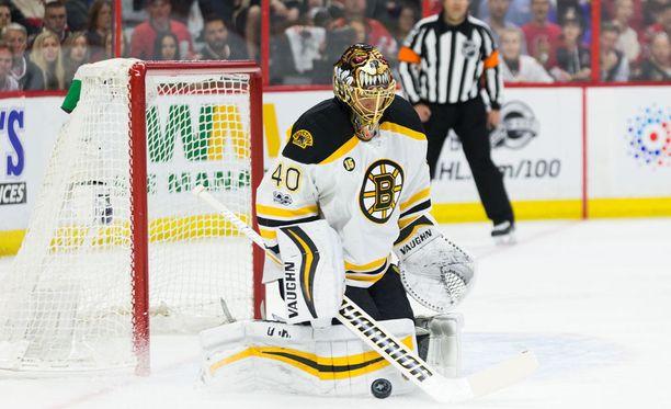 Boston Bruinsin Tuukka Raskin 25 torjuntaa eivät riittäneet, kun Ottawa Senators tasoitti ottelusarjan 4-3-jatkoaikavoitollaan.