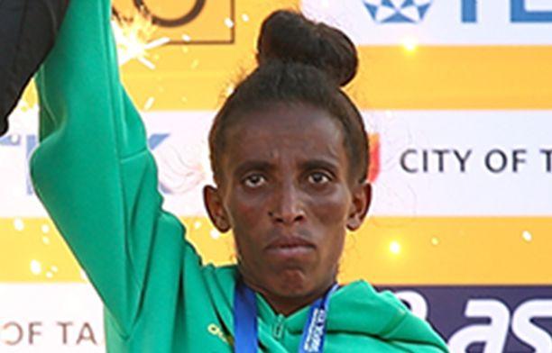 IAAF:n sivuston mukaan Girmawit Gebrzihair on syntynyt vuonna 2001 ja täyttää 18 vuotta marraskuussa. Kuva viime vuodelta Tampereelta.