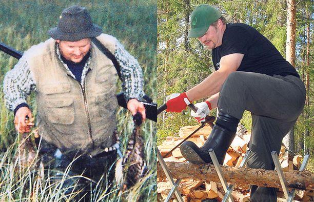 ENNEN Mika Jokiniemi puuskutti metsällä 33 kg painavampana. NYT halonhakkuu sujuu rivakasti ja hengästymättä.
