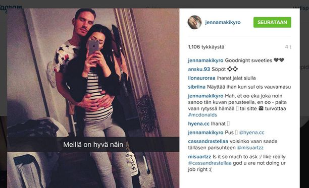 Perjantaina kihlautuneet BB-rakastavaiset Dani Öini ja Jenna Mäkikyrö julkaisivat onnea hehkuvan Instagram-kuvan.