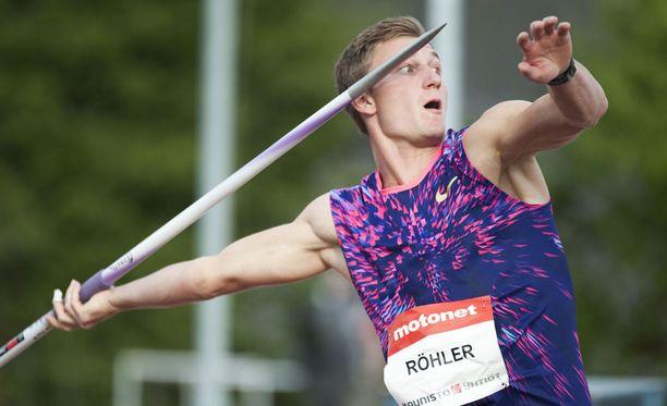 Thomas Röhler voitti Kuortaneen eliittikisat.