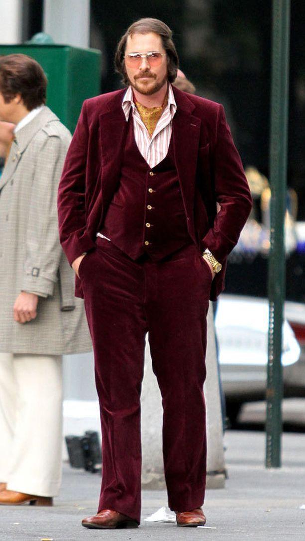 American Hustle -leffassa nähdään pulska Christian Bale.