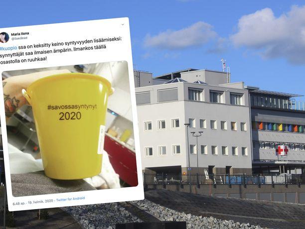Päivitys Kuopion synnytyssairaalasta sai aikaan hyväntuulisen kommentoinnin Twitterissä.