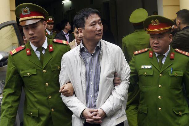 Trinh Xuan Thanh saatettiin oikeuteen Hanoissa Maanantaina.