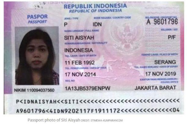 Yhdellä epäillyllä salamurhaajalla oli Indonesian passi nimellä Siti Aishah.