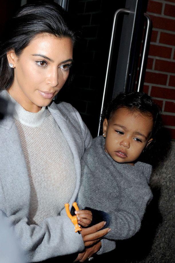 Kim Kardashian sai North-tyttären kiinni itse teossa.
