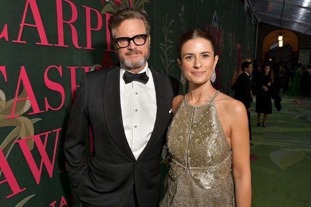 Colin ja Livia Firth juhlivat yhdessä vielä syyskuussa.