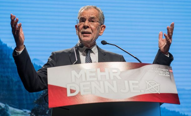 Alexander Van der Bellen nousee Itävallan seuraavaksi presidentiksi.
