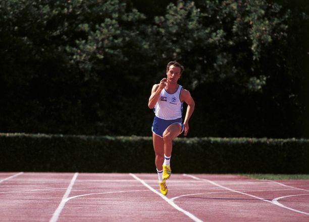Donato Sabia kuvattuna treenaamassa Los Angelesin olympialaisissa 1984.