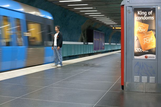 Välikohtaus sattui torstaina metrossa. (Kuvituskuva)