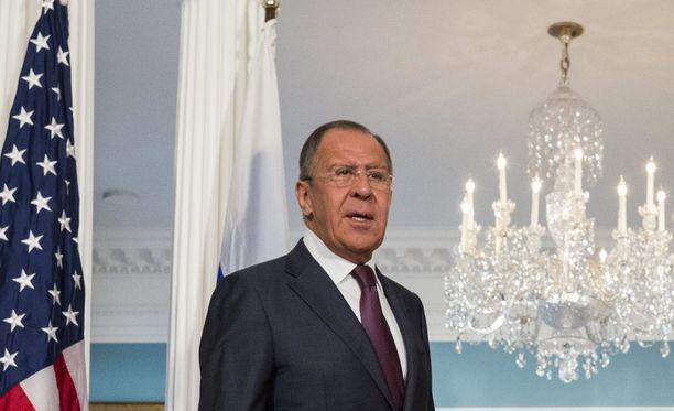 Sergei Lavrov ärähti amerikkalaistoimittajille tiedotustilaisuudessa.