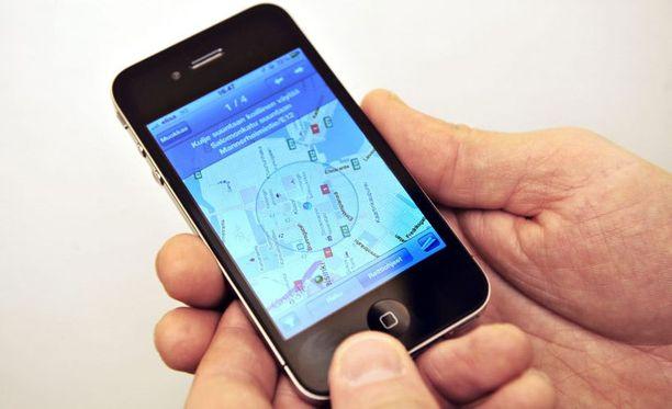 Samsungin älypuhelin muistuttaa kovasti iPhonea.
