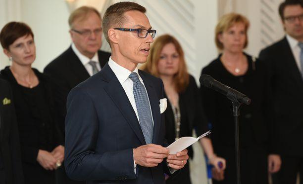 Stubb puhui tänään pääministerin asemassa sekä Mäntyniemessä että eduskunnassa.