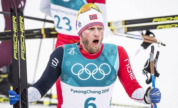 Martin Johnsrud Sundby voitti Pyeongchangissa kaksi kultaa ja yhden hopean.