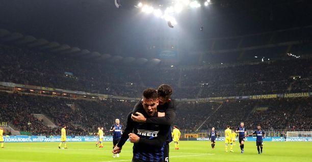 Lautaro Martinez iski lisäajalla Interin voitto-osuman.