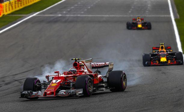 Kimi Räikkönen jäi neljänneksi Belgian GP:ssä.
