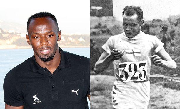 Usain Boltilla on kahdeksan olympiakultaa, Paavo Nurmella yhdeksän.