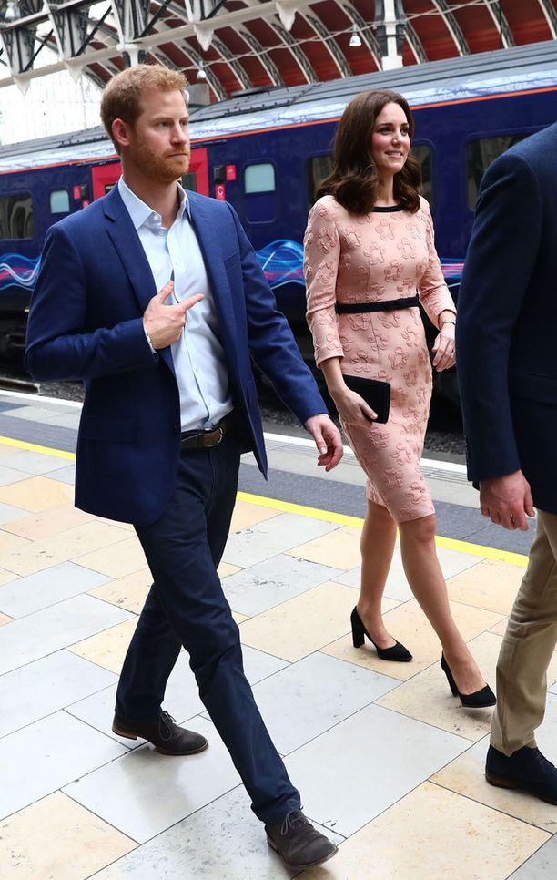 Myös prinssi Harry edusti tilaisuudessa.