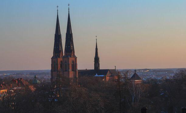 Kolmen miehen epäillään raiskanneen teinipojan Uppsalassa. Poika vietiin sairaalaan, ja poliisi on kuullut häntä aamulla.