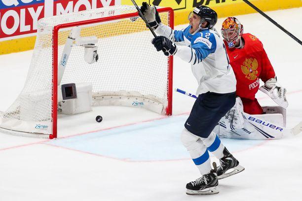 Marko Anttilan osuma upotti Venäjän välierässä.