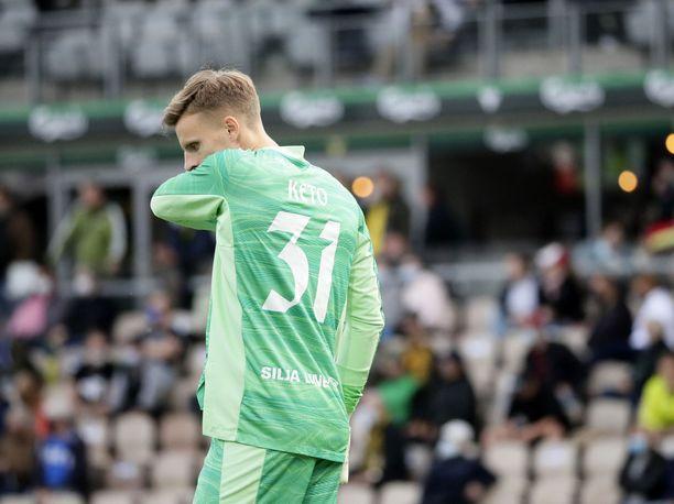 HJK:n Hugo Keto muistaa varmasti vielä pitkään kärkikamppailun KuPSia vastaan.