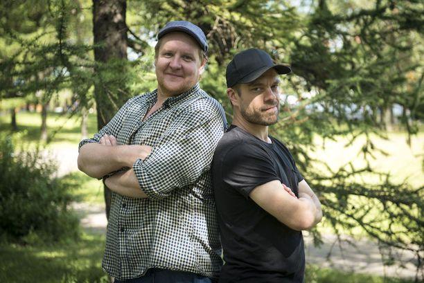 Santtu Karvonen ja Joonas Saartamo ovat näytelleet yhdessä muun muassa Juoppohullun päiväkirja -elokuvassa.