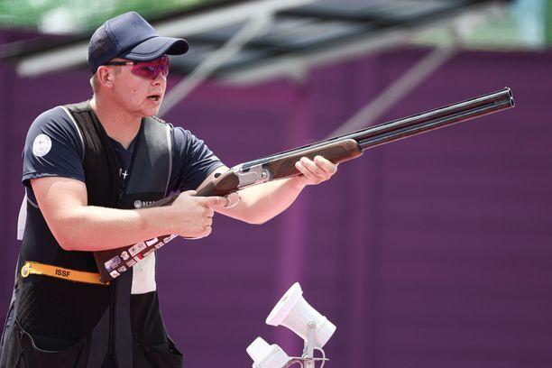 Eetu Kallioinen on iskussa olympiaskeetissä.